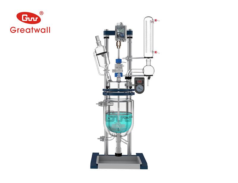长城科工贸GRSL-30升降调速双层玻璃反应釜