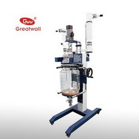 长城科工贸GRL-20L升降式双层玻璃反应釜